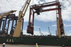 AAL Brisbane – Discharging of RTGs in Veracruz