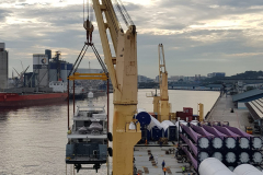 AAL Dalian - Loading 5 sets of Wind Cargoes in Shanghai and 2 Yachts in Singapore destined for Izmir, Turkey