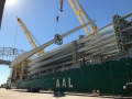 AAL Dalian - Wind Energy - Discharging 51 Giant Windmill Blades in Corpus Christi, USA