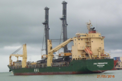 AAL Fremantle - Discharge Mobile Harbour Cranes in Cotonou, Benin