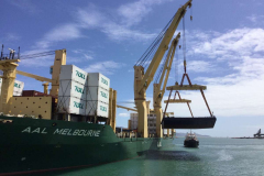 AAL Melbourne - Loaded barges in Shanghai and discharged in Townsville