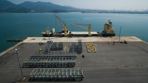 AAL Nanjing - Loading Spur Racks in Yulchon, South Korea