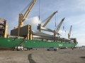 AAL Newcastle - Discharging 42 Windmill Blades (17.57mt and 58m height) in Galveston, Texas