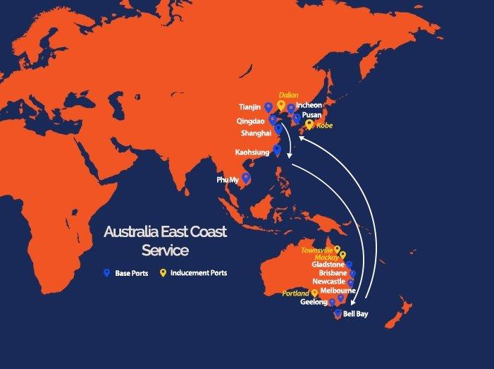 Australia East Coast Service
