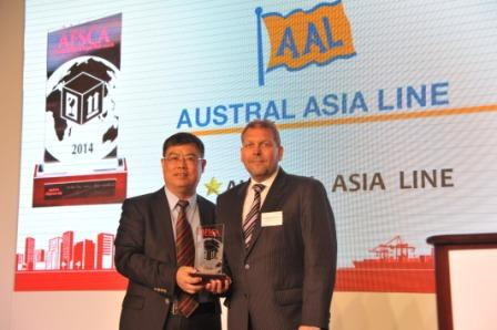 2014 - AAL Awarded Best Shipping Line - Project Cargo 28th AFSCAs
