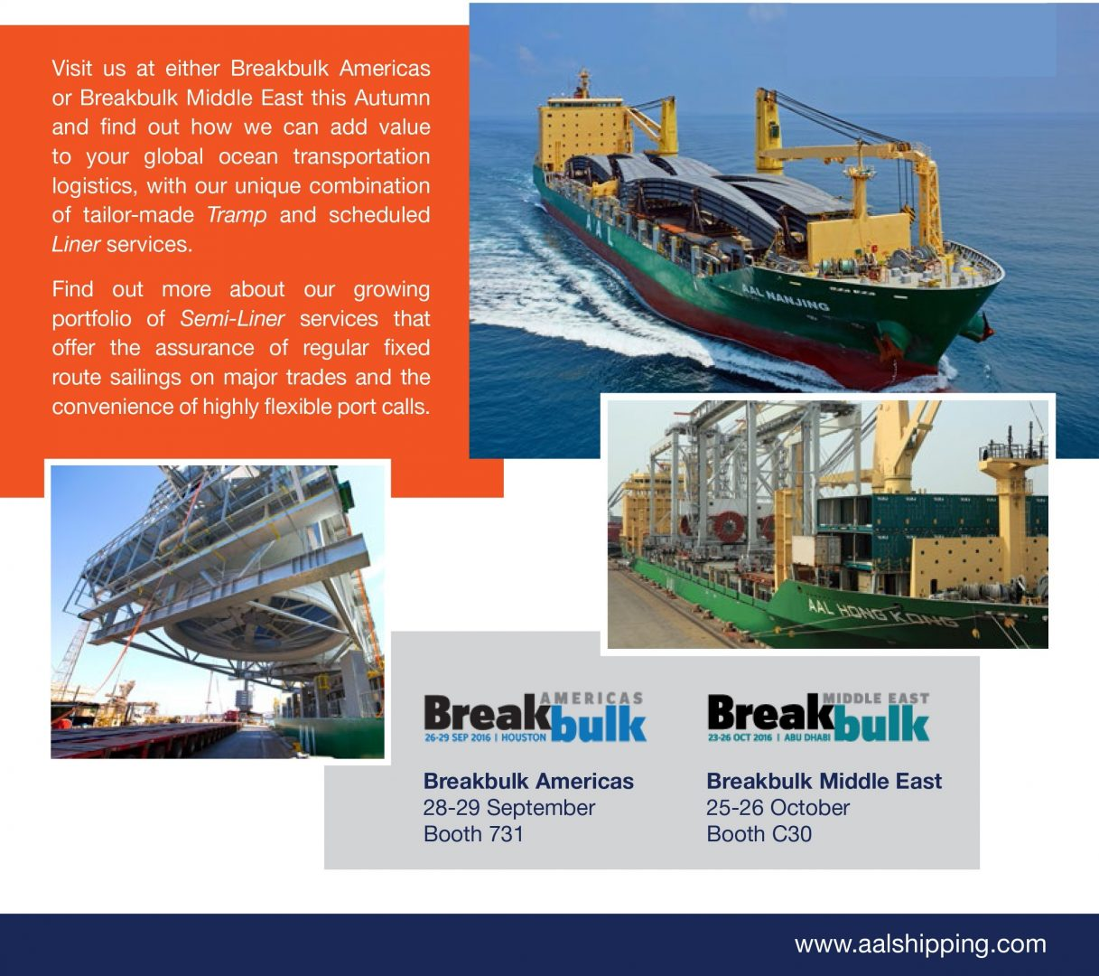 AAL PORTS BREAK BULK