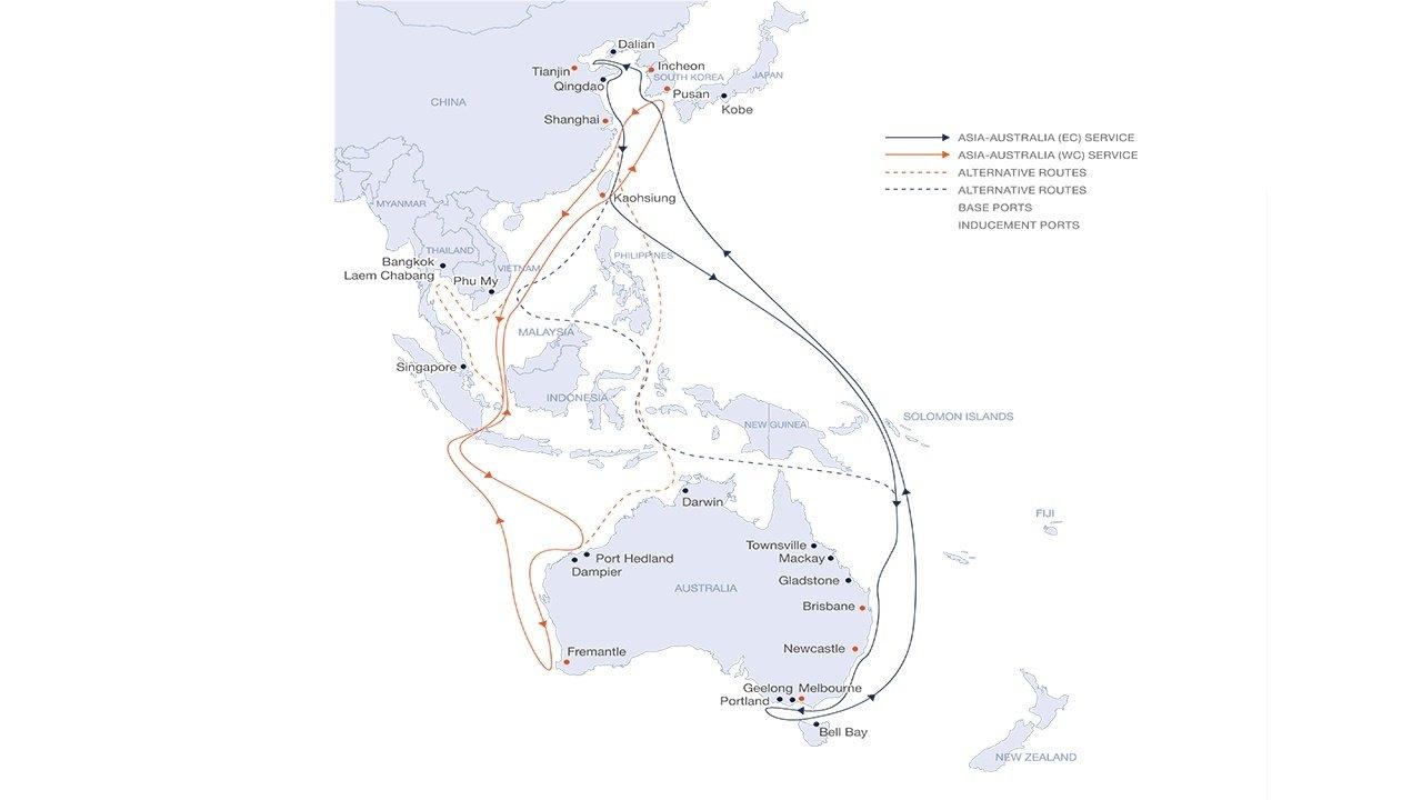 Australia East & West Coast Service