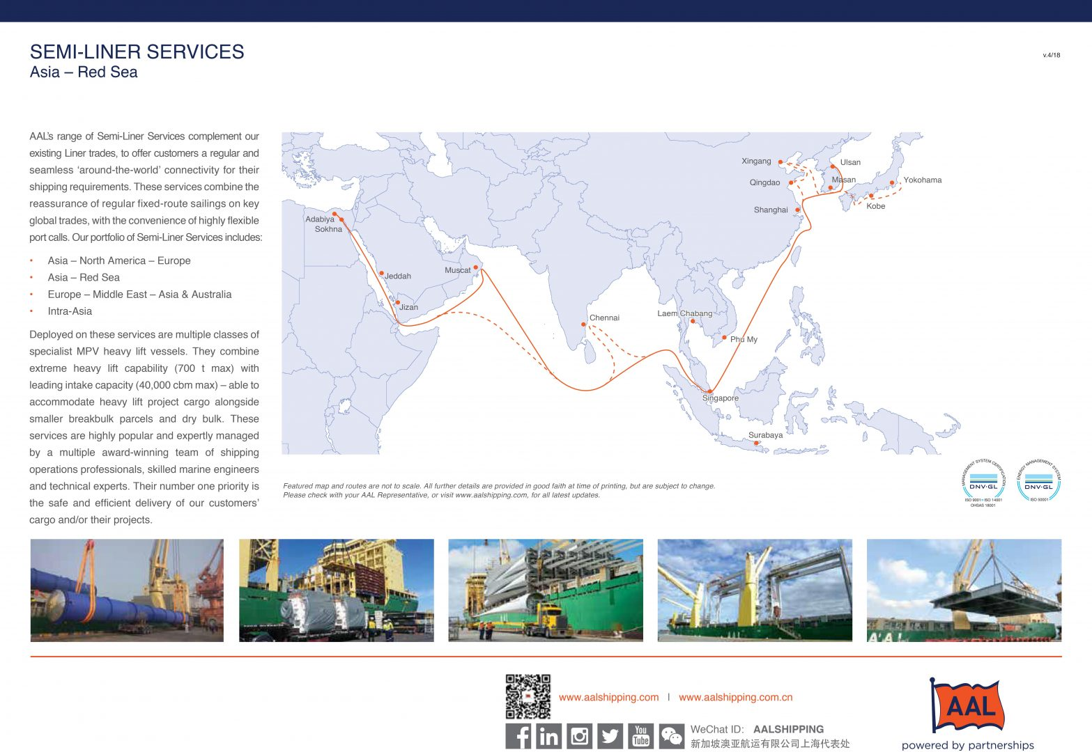 ASIA – RED SEA SEMI-LINER SERVICE ROUTE MAP