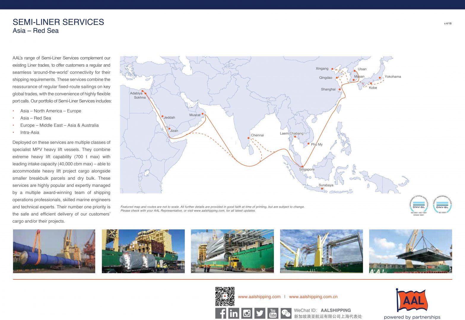 ASIA – RED SEA SEMI-LINER SERVICE ROUTE MAP