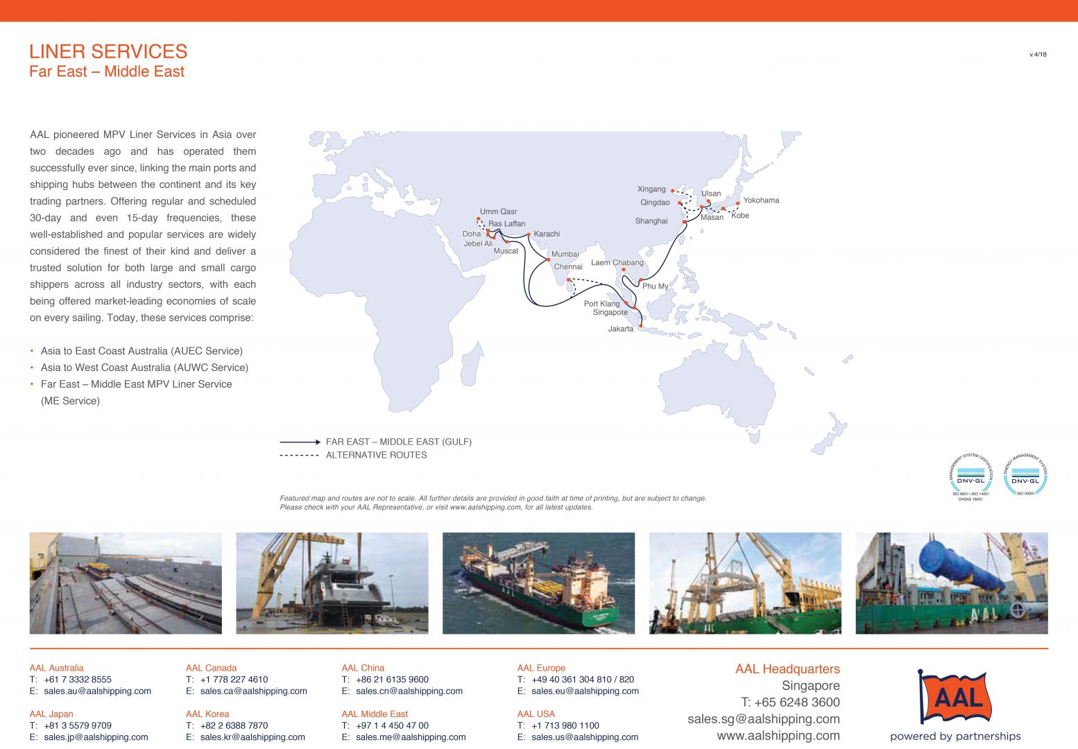FAR EAST – MIDDLE EAST LINER SERVICE ROUTE MAP