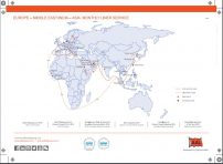EUROPE - MIDDLE EAST INDIA - ASIA LINER SERVICE ROUTE MAP