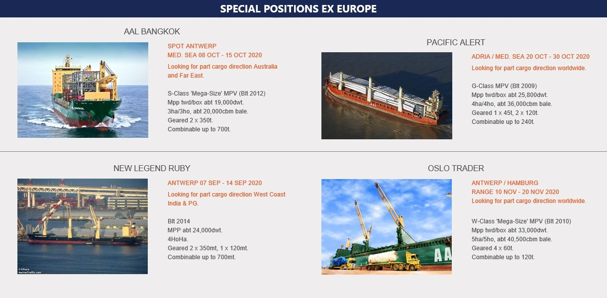 SPECIAL POSITIONS EX EUROPE (21.09.20)
