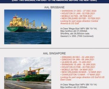 Asia - Americas Service - 17.12.2020