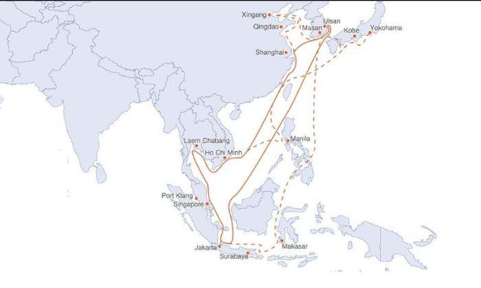 SAILING SCHEDULE: 'INTRA ASIA SERVICE (WEEK 30)' - 28.07.2021