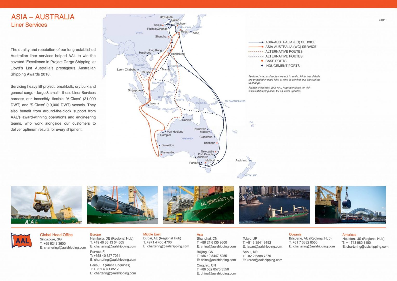 ASIA – AUSTRALIA LINER SERVICE ROUTE MAP