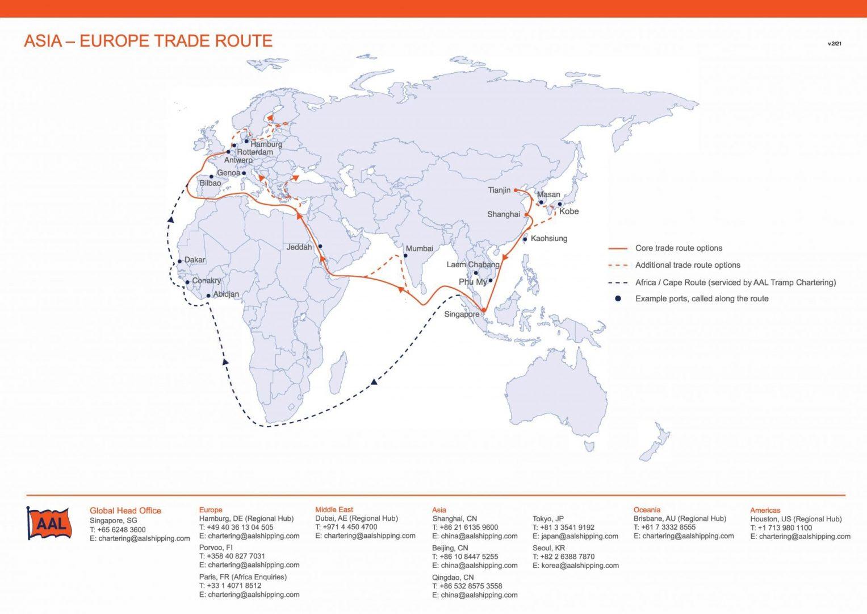 ASIA – EUROPE TRADE ROUTE