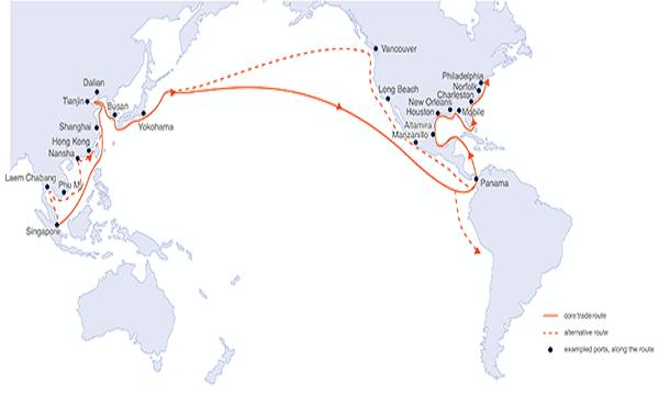 'ASIA – AMERICAS TRADE ROUTE' (18.10.21)